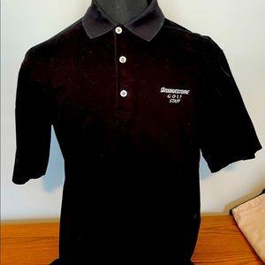 Antigua men's Bridgestone Staff golf shirt.